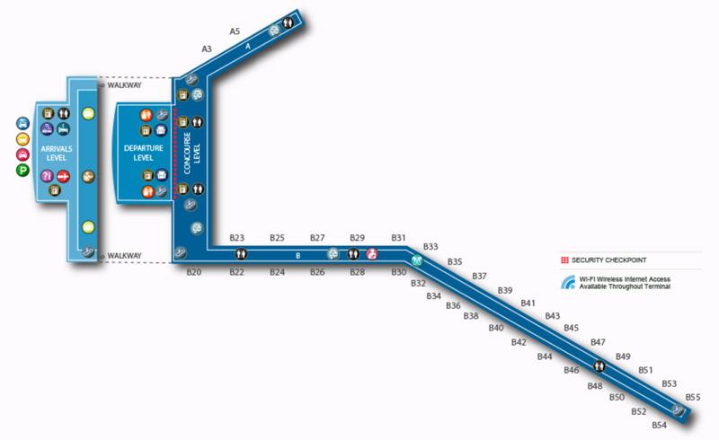 Carte du Terminal 4 de l'aéroport JFK