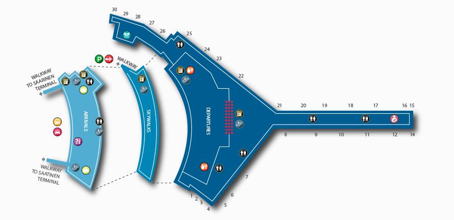 Carte du Terminal 5 de l'aéroport JFK