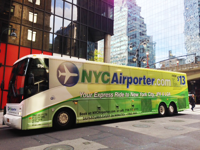 Bus NYC Airporter de JFK à Manhattan
