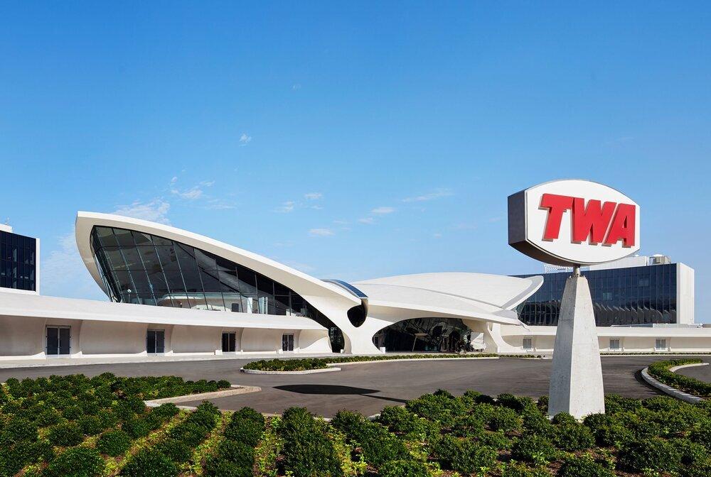 Vue de l'hôtel TWA de l'aéroport JFK