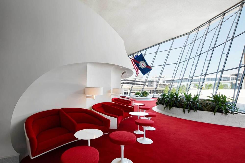 Intérieur de l'aéroport JFK et terminal TWA